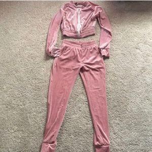 Pink jogging suit